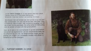 Kelvin met de honden in de Koerier